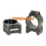Кольца 25,4 мм на Weaver высота 6 мм Warne Maxima Fixed Low, 200M, сталь (черный)