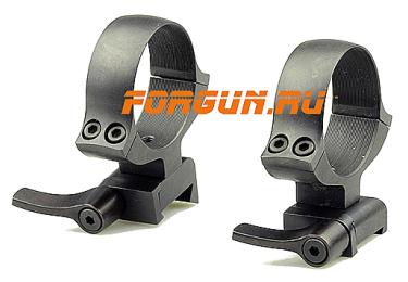 Кольца 36 мм для CZ 550 высота 18 мм, быстросъемные, Kozap Alfa, 61, сталь (черный)