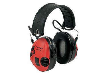 Наушники активные складные 25 дБ Peltor SPORTTAC SHOOTING 478 MT16Н210F-478-RD, черный/красный
