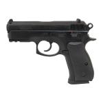 Пневматический пистолет CZ-75 compact черный, подвижный затвор(ASG)