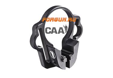 Антабка небыстросъемная CAA tactical OPSM для ремня, алюминий, черный