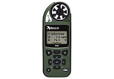 Ветромер Kestrel 5500 LINK Olive флюгер в комплекте (время,скорость ветра,температура воздуха,воды, водонепроницаемый) 0855LVOLV
