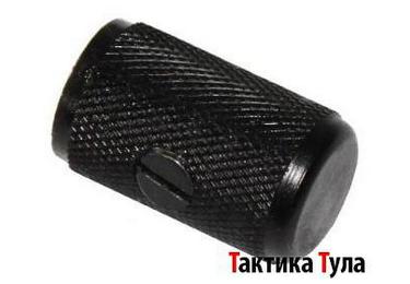 Накладка увеличенная ручка затвора АК, Сайга, Вепрь Тактика Тула 70005, алюминий (черный)