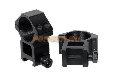 Кольца Leapers UTG 30 мм для установки на Weaver/Picatinny, высокие, ширина 21 мм, RGWM-30H4