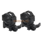 Кольца Leapers UTG 25,4 мм для установки на Weaver/Picatinny, средние, быстросъемные, ширина 22 мм, RQ2W1154