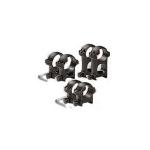 Кольца 25,4 мм на Weaver высота 29 мм ЭСТ средние, сталь (черный)