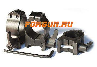 Кольца 25,4 мм на Weaver высота 9 мм Warne Maxima Quick Detach Medium, 201LM, сталь (черный)