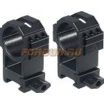 Кольца Leapers UTG 30 мм для установки на Weaver/Picatinny, высокие, быстросъемные, ширина 25 мм, RG2W3226