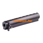 Трубка телескопического приклада для АК47, AK-74 нескладная (вместо нескладных) CAA tactical AKTM, алюминий (черный)