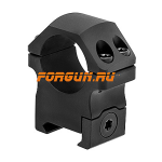 Кольца 30 мм на Weaver высота 15 мм Leapers UTG PRO Medium, RWU013015, алюминий (черный)