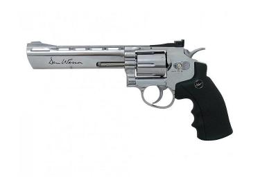 """Пневматический пистолет револьвер Dan Wesson 6"""" металл никель(ASG)"""