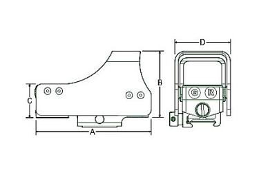 Коллиматорный прицел Leapers UTG 1х34х25 (круг с точкой 4 moa)(weaver), SCP-RDM39CDQ