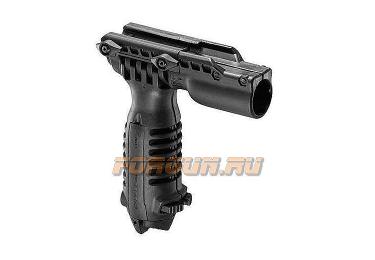 Рукоять-сошка на Weaver/Picatinny, быстросъемная, крепеж фонаря, высота 16-23 см, FAB Defense, FD-T-POD FA