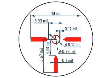 Коллиматорный прицел ROS ПКТ 3-12х50