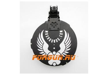 Магазин 12х76 барабанного типа псевдо 20 мест для Сайги 12к с ограничителем на 7 патронов комплект Maxrounds PowerMag