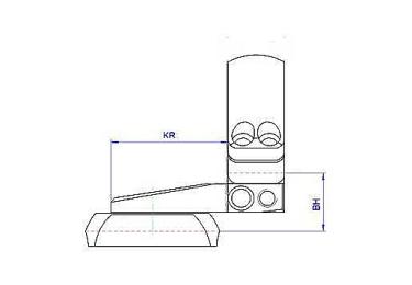 Кронштейн MAK на раздельных основаниях, с кольцами 30мм, на Heym SR30, 1022-26099