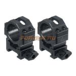 Кольца Leapers UTG 25,4 мм для установки на Weaver/Picatinny, средние, быстросъемные, ширина 22 мм, RG2W1154