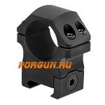 Кольца 25,4 мм на Weaver высота 15 мм Leapers UTG PRO Medium, RWU012515, алюминий (черный)