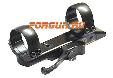 Кронштейн Contessa Alessandro с кольцами (26 мм) для установки на СА, быстросьемный (длина базы 110, расст. между кольцами 75), CAT/SB02_26STD