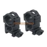 Кольца Leapers UTG 25,4 мм для установки на Weaver/Picatinny, высокие, быстросъемные, ширина 22 мм, RG2W1204
