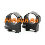Кольца 30 мм на Weaver быстросъемные, высота 14 мм, сталь Luman Precision средние LP30MED (черный)