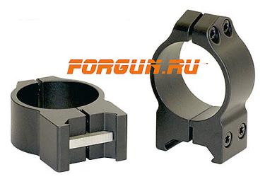Кольца 30 мм на Weaver высота 9 мм Warne Maxima Fixed Medium, 214M, сталь (черный)
