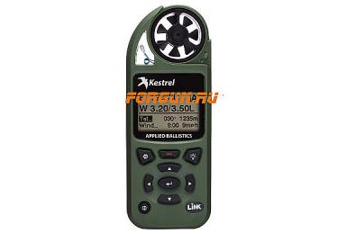 Ветромер Kestrel Elite LiNK Olive (Applied Ballistic, время, скорость ветра, температура воздуха, воды, WP, более 14 различных параметров) 0857ALOLV