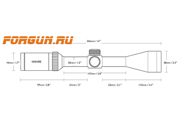 Оптический прицел Hawke Endurance 30 SF 4-16x50, 30 мм, c подсветкой, отстройка параллакса, Mil Dot, 16252