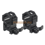 Кольца Leapers UTG 25,4 мм для установки на Weaver/Picatinny, высокие, быстросъемные, ширина 22 мм, RQ2W1204