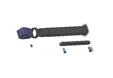 Приклад для АК, Сайга складной (вместо складных) телескопический с щекой РЫСЬ АК1-2 (черный)