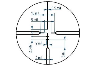 Коллиматорный прицел ROS ПКТ 1-4х30