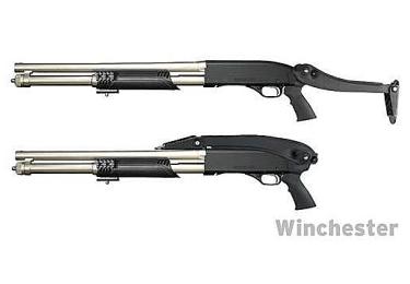 """Приклад складной тактический для Mossberg, Remington и Winchester """"Marine"""" ATI MTF4900 (черный)"""