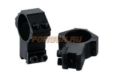 """Кольца Leapers UTG 30 мм для установки на """"Ласточкин хвост"""", высокие, не быстросъемные, RGPM-30H4"""