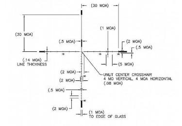Оптический прицел U.S. Optics 5-25x58 34 мм SN-3 T-PAL (RDP MOA)