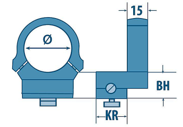 Кольца EAW Apel (30мм) под поворотные основания на Benelli Argo (переднее+заднее), 310/0514/17+316/5120