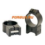 Кольца 30 мм на Weaver высота 13 мм Warne Maxima Fixed High, 215M, сталь (черный)