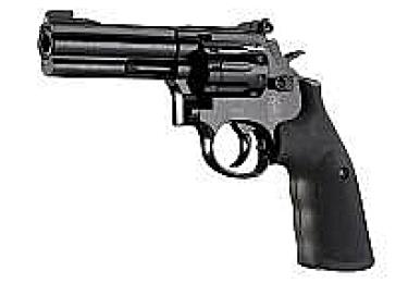"""Пневматический пистолет револьвер Smith&Wesson 586 4"""" черный (Umarex)"""