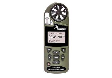 Ветромер Kestrel 4500 NV Olive (текущую, максимальную и среднюю скорость, направление, скорость бокового, встречного и попутного ветра) 0845NVOLV